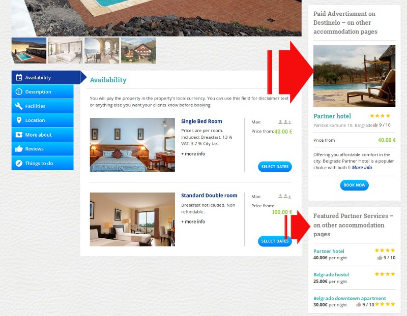 Featured partners on single accommodation page