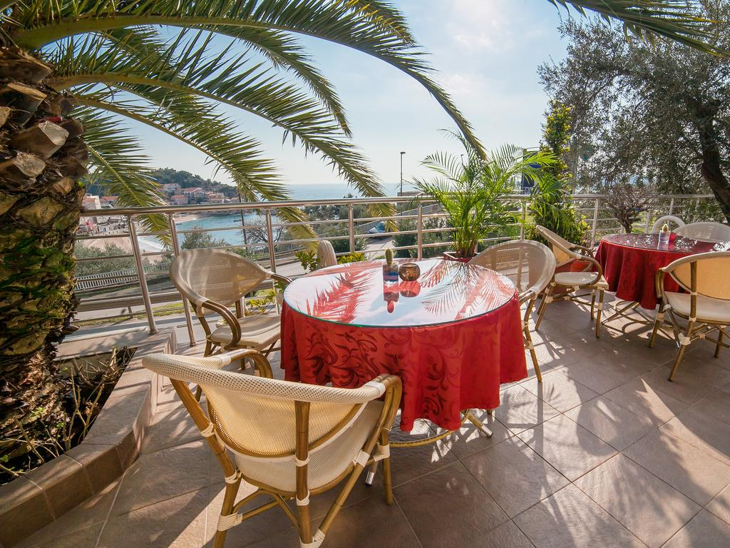 Raymond apartments montenegro sun terrace with palms for The terrace top date